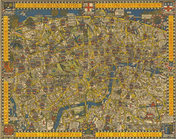 Decorative Map of London from 1913